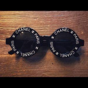 Rare Chanel Runway round sunglasses